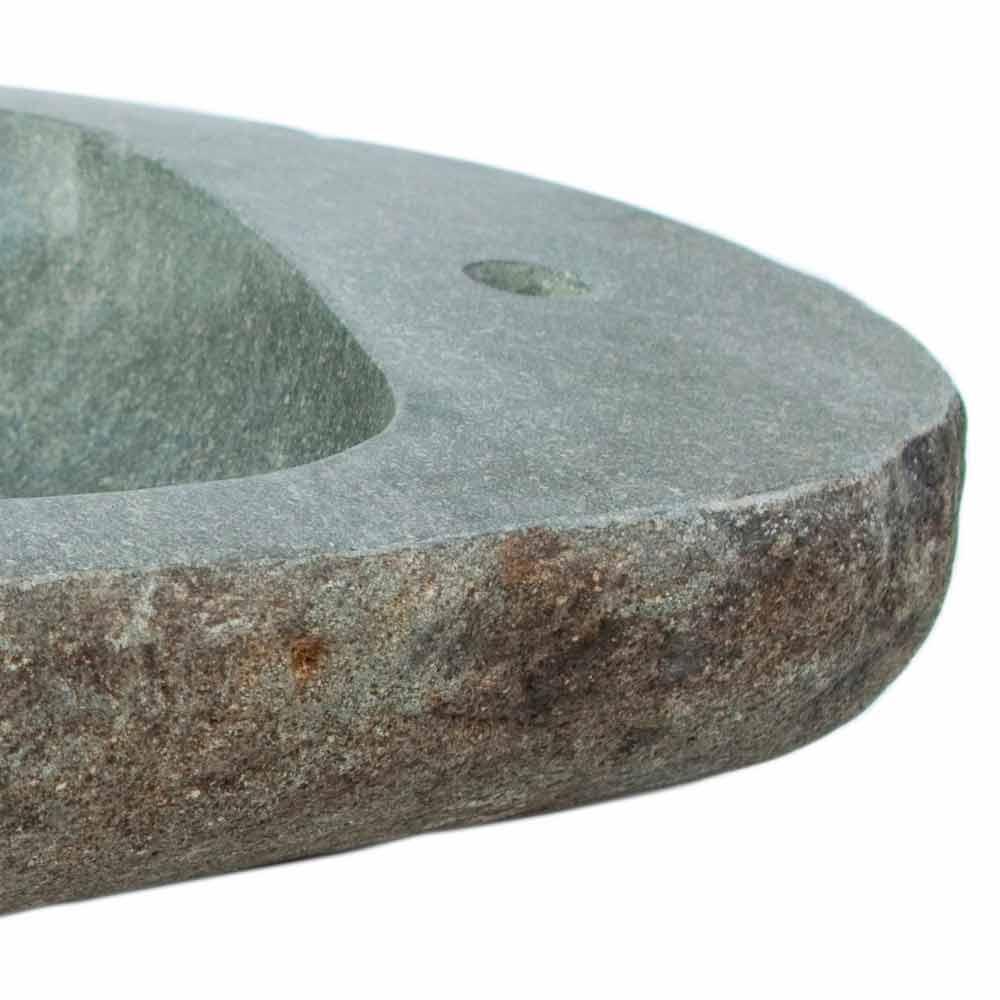 Lavabo sobre encimera realizado en piedra natural modelo kai - Radiadores de piedra ...