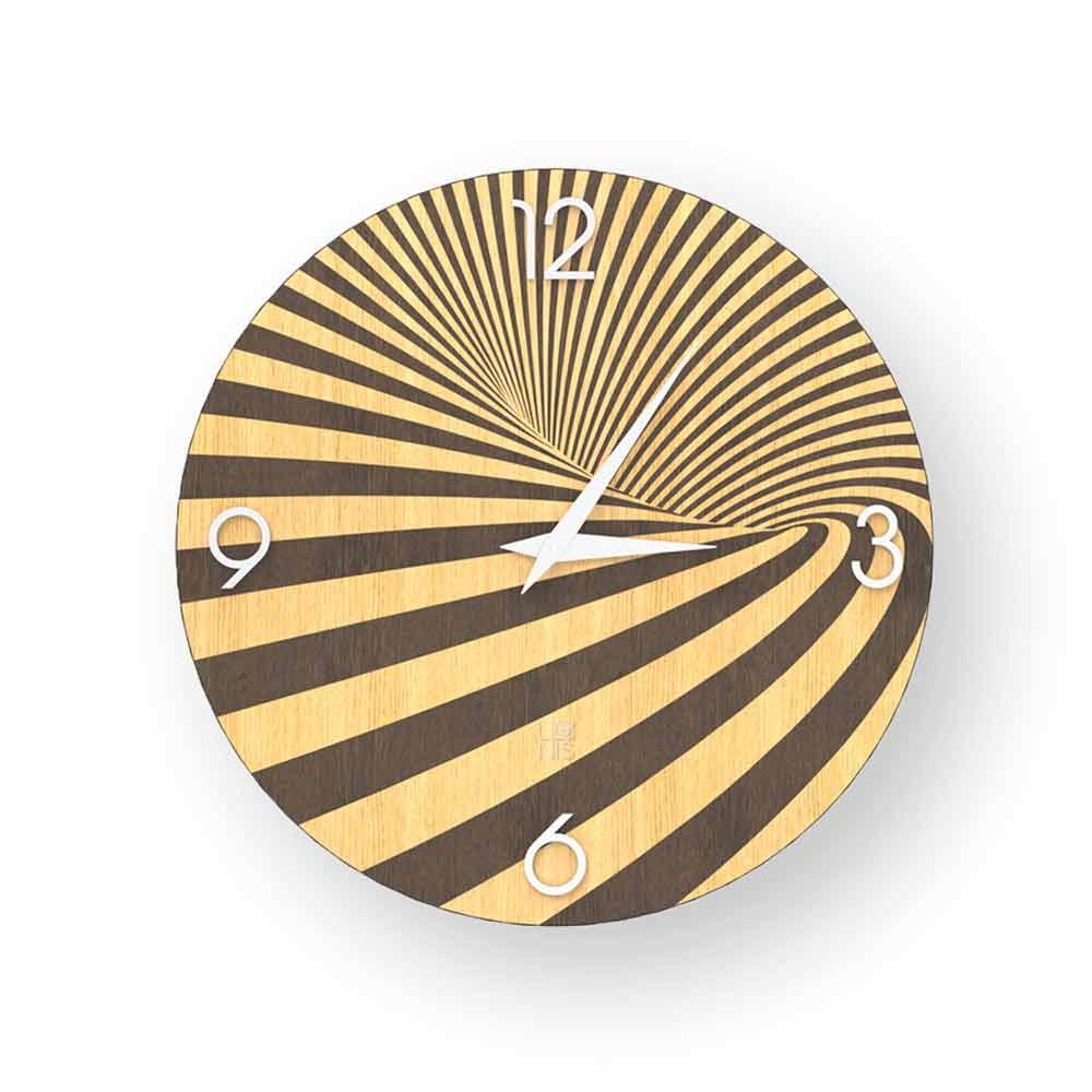 e36a71ec1db7 Reloj de madera decorado con diseño azzio, hecho en Italia.
