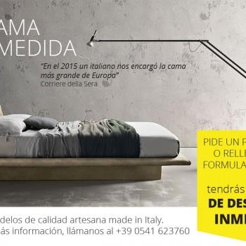 Solicite su cama sobre Medición - 100% Made in Italy