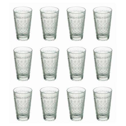 12 vasos para bebidas en vidrio transparente decorado para bebidas - Maroccobic