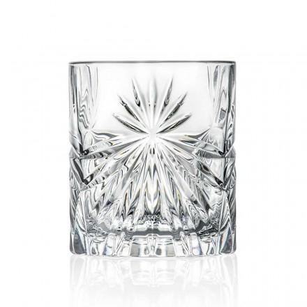 12 vasos dobles de estilo antiguo con diseño de cristal ecológico - Daniele