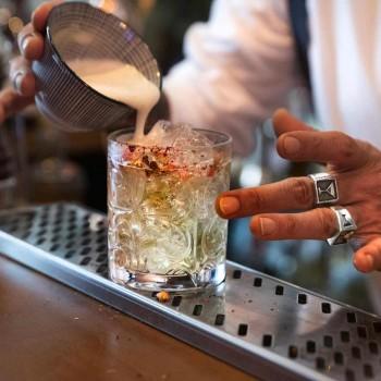 12 vasos dobles de estilo antiguo en cristal ecológico de lujo - Destino