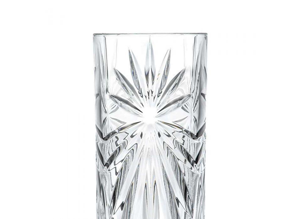 12 vasos de cóctel altos Highball Tumbler en diseño de cristal ecológico - Daniele