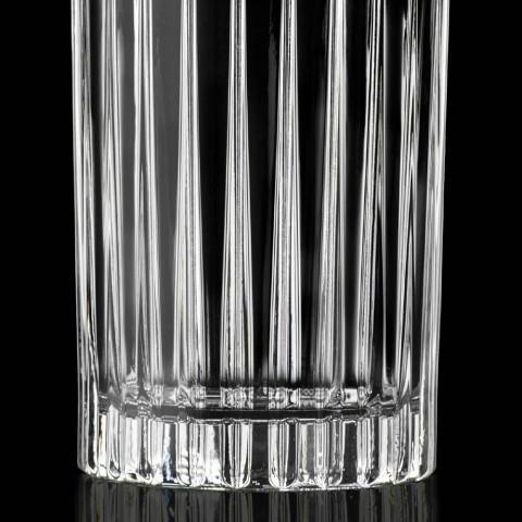 12 vasos altos de vaso alto en cristal ecológico decorado - Senzatempo