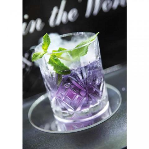 12 vasos de diseño vintage en vidrio sonoro superior Eco - Cantabile