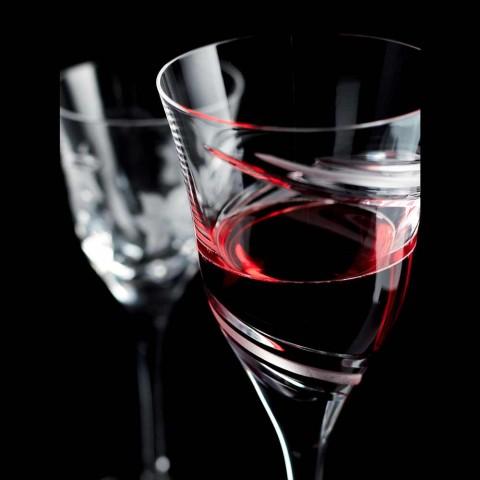 12 copas de vino tinto en cristal ecológico de lujo sin plomo - Cyclone