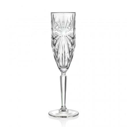 12 copas de flauta de vidrio para champán o prosecco en cristal ecológico - Daniele