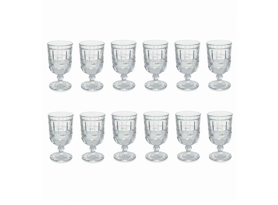 12 Copas de Cristal Decoradas y Transparentes para la Mesa de Navidad - Garbobic
