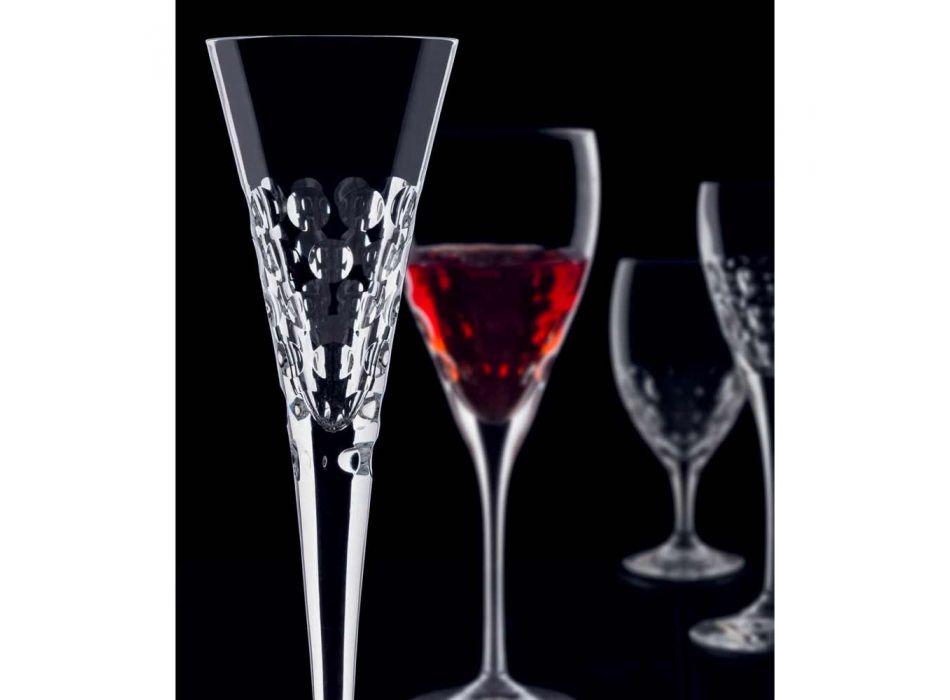 12 Copas de vino Copas Fluter para burbujas de cristal - Titanioball