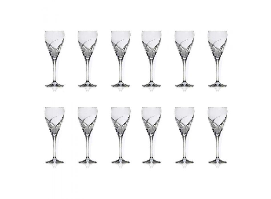 12 copas de vino tinto en diseño de lujo de cristal ecológico - Montecristo