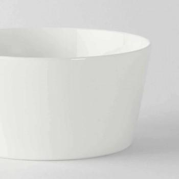 12 tazas de helado o frutas de porcelana blanca de diseño moderno - Egle