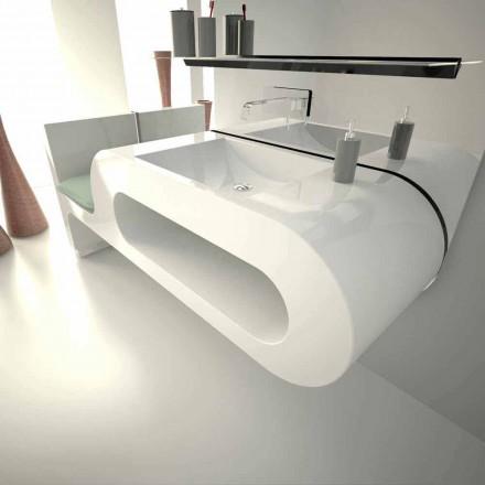 Lavabo con diseño moderno en blanco, negro o burdeos Garfish.