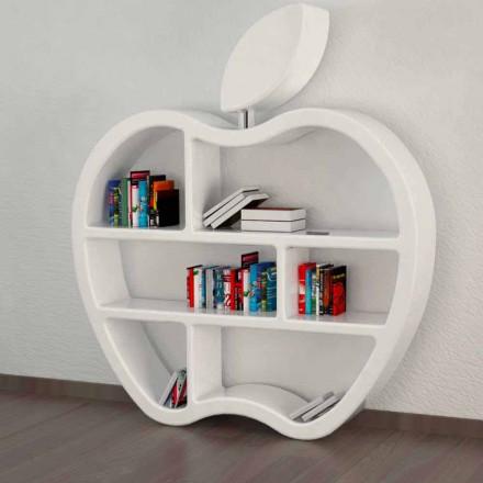 Estantería de diseño moderno en color rojo, blanco o gris.