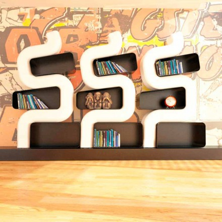 Estantería diseño moderno de Solid Surface® hecha en Italia Ser P