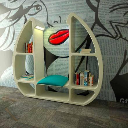 Estantería de diseño hecha en Italia con Solid Surface® Shelley