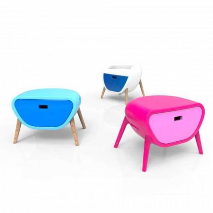 Mesita de noche moderna de diseño Little Gauche Made in Italy