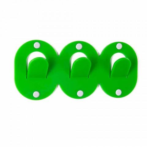 2 Colgador de pared triple en diseño de clip de plexiglás de colores - Freddie