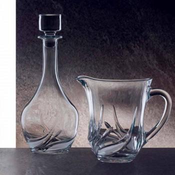 2 botellas de vino de cristal ecológico con tapa de diseño redondo y decoraciones - Adviento