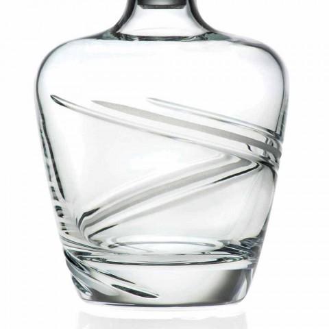 2 botellas de whisky en cristal ecológico artesanal italiano - Cyclone