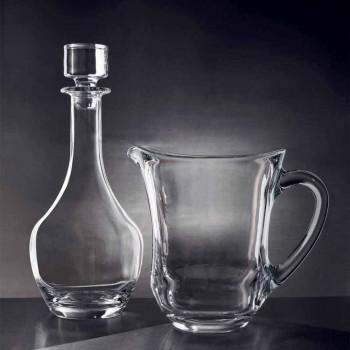 2 Botellas para Vinos en Cristal Ecológico Diseño Minimal Italiano - Suave