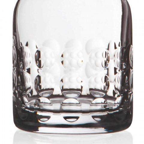 2 botellas de whisky en cristal ecológico decoradas con tapón - titanioball