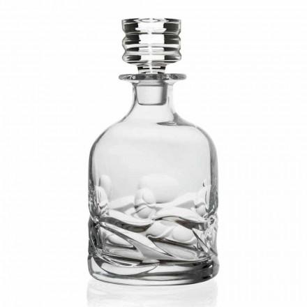 2 botellas de whisky decoradas con cristales ecológicos con tapa de diseño de lujo - Titanio