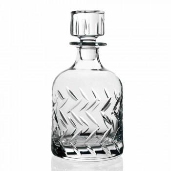 2 botellas de whisky de cristal ecológicas con tapa decorativa vintage - Arritmia