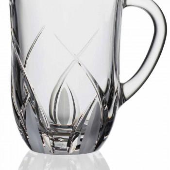 2 jarras de agua de cristal ecológicas diseño de lujo decorado a mano - Montecristo