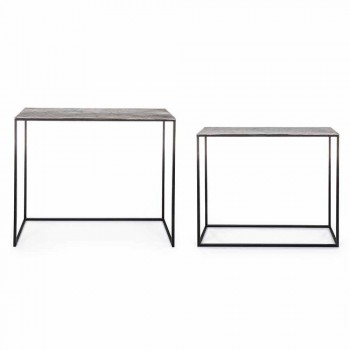 2 Consolle in Steel Industrial Style Diseño moderno Homemotion - Sesame