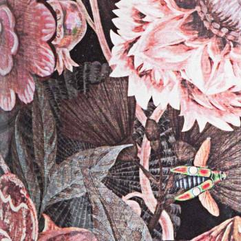 2 Paragüero de porcelana con calcomanía de flores Homemotion - Jolly