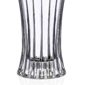 2 jarrones de decoración de diseño en lujo decorado con cristal ecológico transparente - Senzatempo