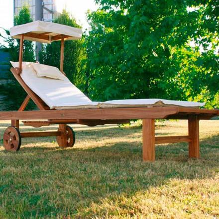 Tumbona de jardín regulable realizada en madera de teca