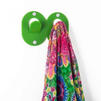 3 colgadores de pared en plexiglás de colores diseño italiano doble con clip - Freddie