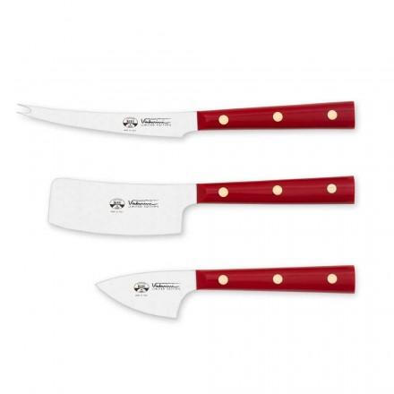 3 Cuchillos para queso de acero inoxidable, Berti Exclusivo para Viadurini - Asiago