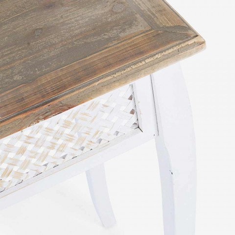 3 Consola de diseño de estilo clásico en abeto, bambú, bambú y mdf - Camalow