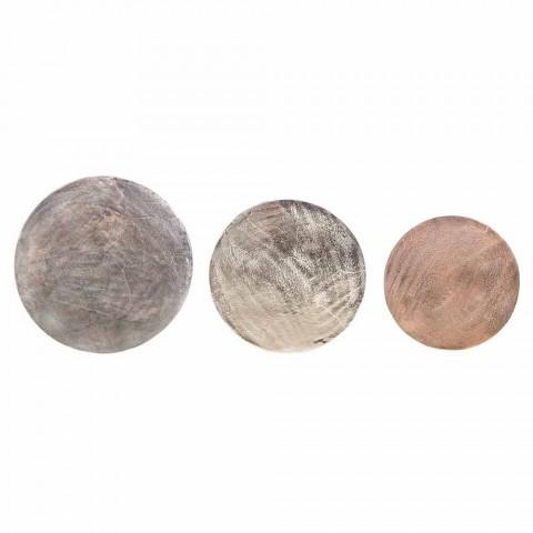 3 Mesas Redondas de Aluminio y Acero Homemotion - Sempronio