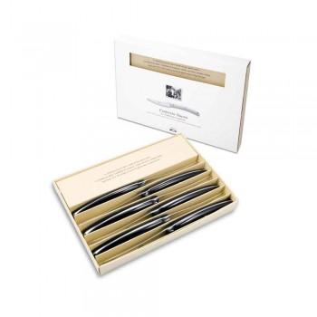 6 cuchillos de mesa Convivio Nuovo Berti exclusivos para Viadurini - Alifano