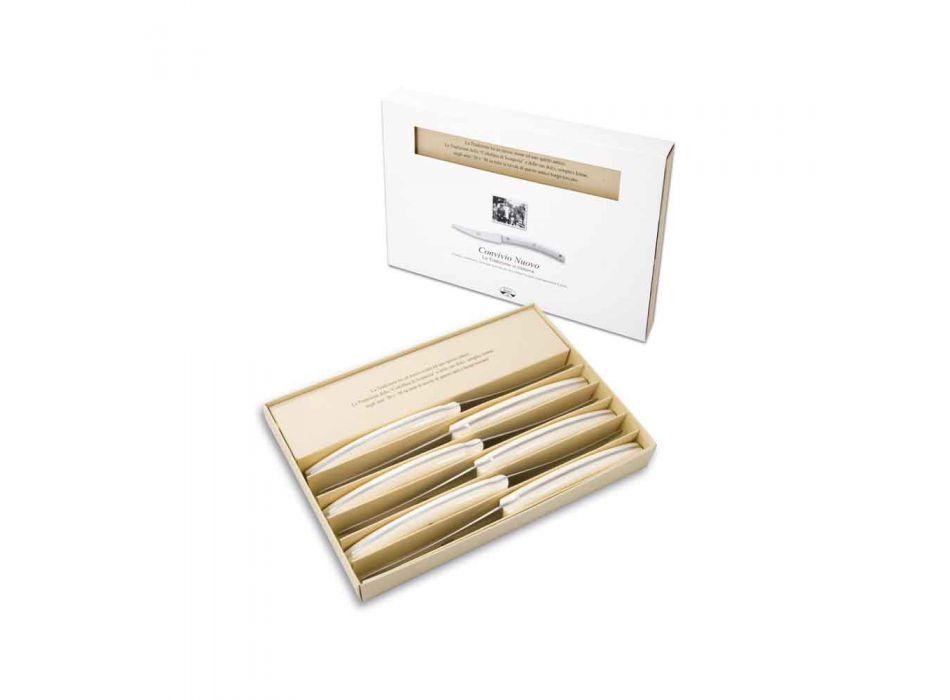 6 cuchillos de mesa Convivio Nuovo Berti exclusivos para Viadurini - Alonte