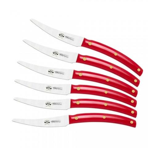 6 cuchillos de mesa Convivio Nuovo Berti en exclusiva para Viadurini - Alserio