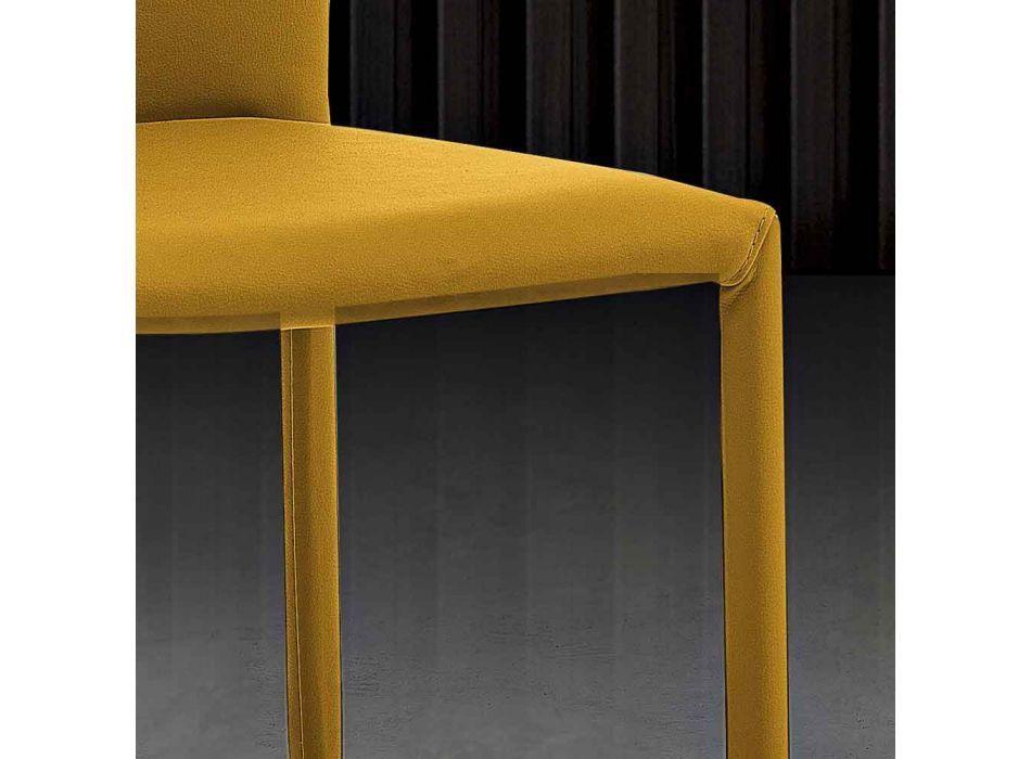 6 Sillas Apilables de Diseño Moderno en Ecopiel de Color para Salón - Mérida