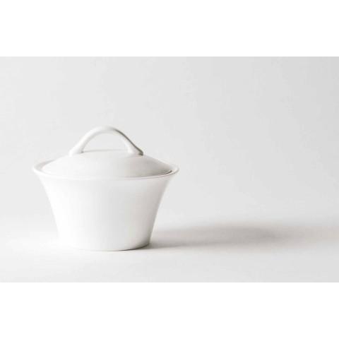 6 tazas de café de porcelana con cafetera y azucarero - Romilda