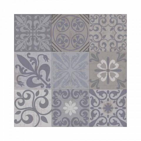 6 elegantes manteles individuales de PVC y poliéster con estampado negro o gris - Pita