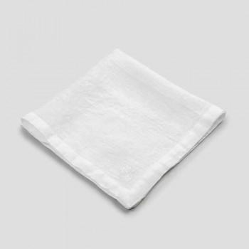 6 servilletas de lino claro con decoración de caja de lujo italiana - Virtu
