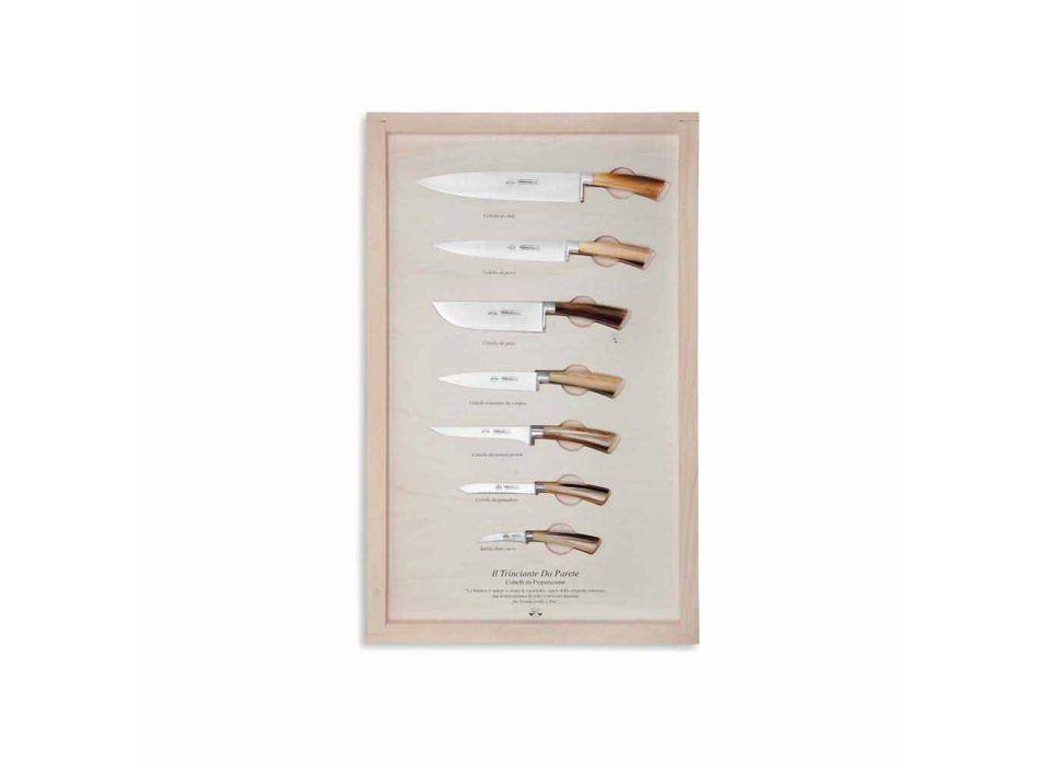 7 Cuchillos de pared de acero inoxidable Berti exclusivos para Viadurini - Modigliani