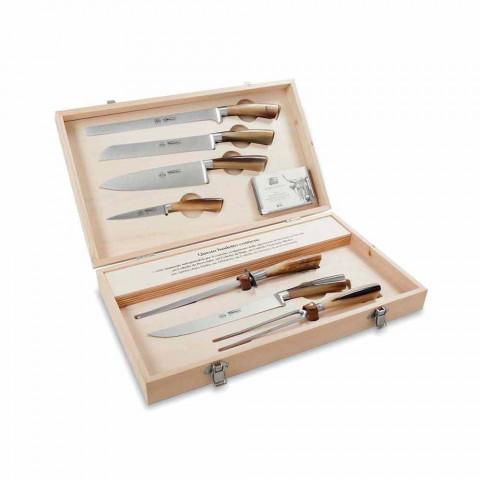 7 cuchillos de mesa Berti de acero inoxidable en exclusiva para Viadurini - Sanzio