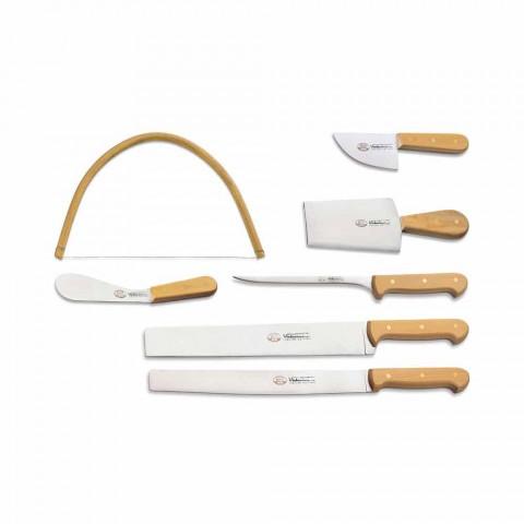 7 cuchillos italianos de acero inoxidable Berti exclusivos para Viadurini - Alessano