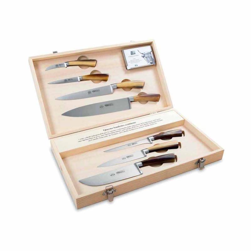 7 cuchillos italianos Berti de acero inoxidable en exclusiva para Viadurini - Goya