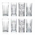 8 Vasos altos para cóctel Highball Tumbler en Eco Crystal - Malgioglio