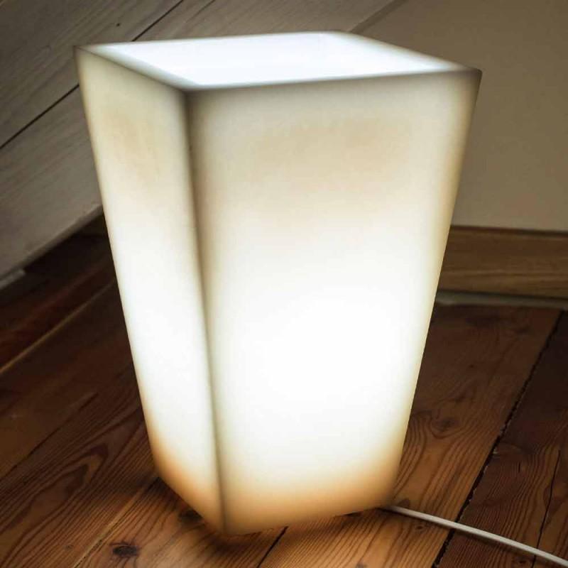 Abat-jour en diseño de efecto rayado de cera perfumada Made in Italy - Monia