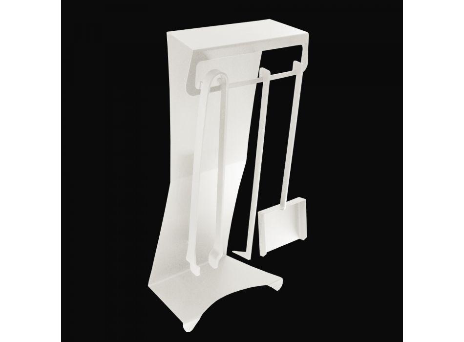 Accesorios para chimenea en acero pintado Made in Italy 3 piezas - Virgil